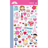 Mini Icons Stickers-Doodlebug French Kiss