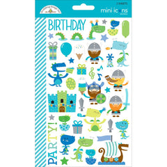 Dragon Tails Mini Icons Stickers-Doodlebug