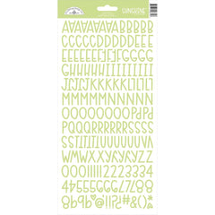 Limeade Green Sunshine Alphabet Stickers-Doodlebug