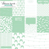 Mint Love Cards 12x12 Overlay-Webster's Pages-Sprinkled With Love