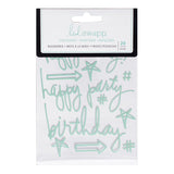 Mint Birthday Buzzwords Epoxy Stickers-Heidi Swapp