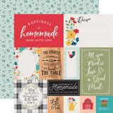Multi Journaling Cards 12x12 Paper-Echo Park Farmhouse Kitchen