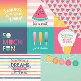 Multi Journaling Cards 12x12 Paper-Echo Park Summer Dreams