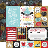 Multi Journaling Cards 12x12 Paper-Echo Park Remember The Magic
