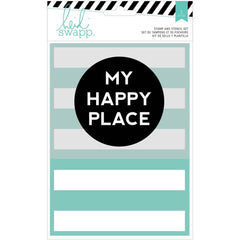 My Happy Place Stamp & Stencil Set-Heidi Swapp Wanderlut