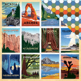 National Parks 12x12 Paper-Carta Bella Are We There Yet