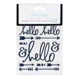Navy Hello Buzzwords Epoxy Stickers-Heidi Swapp