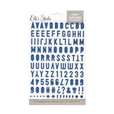 Navy Blue Puffy Alphabet Stickers-Elle's Studio