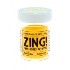 Neon Amber Zing! Embossing Powder American Crafts