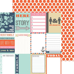 Notecards Orange Dot 12x12 Paper-Teresa Collins-Family Stories