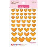 Orange Mix Puffy Hearts Stickers-Bella Blvd