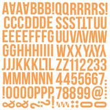 Orange Foam Alpha Stickers-Simple Stories Color Vibe
