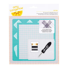 Oxford Embroidery Stencil Kit-Amy Tangerine Stitched