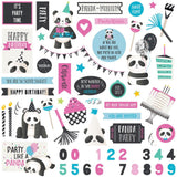 Panda Party Element Stickers-Photo Play Cake