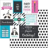 Panda Wishes 12x12 Paper Photo Play Cake Panda Party