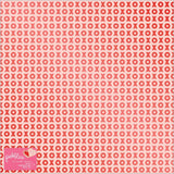 XO Red Foil Specialty 12x12 Paper-Pebbles Loves Me