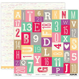 Letters and Numbers 12x12 Double Sided Paper-Elle's Studio Penelope