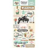 Chipboard Phrases Stickers-Carta Bella Flower Market