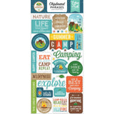Chipboard Phrases Stickers-Echo Park Summer Adventure