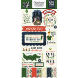 Chipboard Phrases Stickers-Echo Park Lost In Neverland