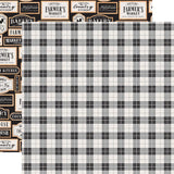 Picnic Plaid 12x12 Paper-Echo Park Farmhouse Kitchen