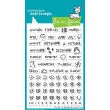 Plan On It Calendar Stamps-Lawn Fawn
