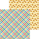 Primary Plaid 12x12 Paper-Doodlebug Bar-B-Cute