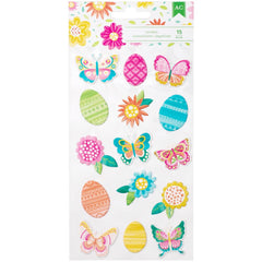 Hello Spring Puffy Stickers-American Crafts