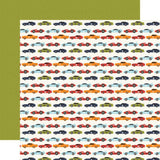 Race Car Lanes 12x12 Paper-Echo Park All Boy