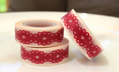Red Lace Washi Tape