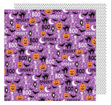 Scared Cat 12x12 Paper-American Crafts Halloween