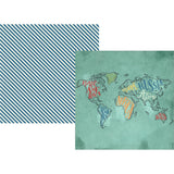 See The World 12x12 Paper-Simple Stories Travel Notes