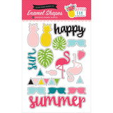 Summer Fun Enamel Shapes Stickers-Echo Park