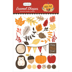 Hello Fall Enamel Shapes Stickers-Carta Bella