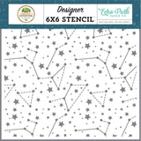 Sky Constellations 6x6 Stencil-Echo Park Summer Adventure