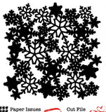 Snowflakes Background Free Cut File