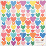 Glitter Hearts Iridescent 12x12 Specialty Paper-Amy Tangerine Picnic In The Park