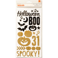 Spooky Glitter Shape Thickers-Crate Paper After Dark