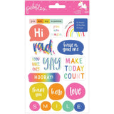 Live Life Happy Sticker Book-Pebbles Live Life Happy