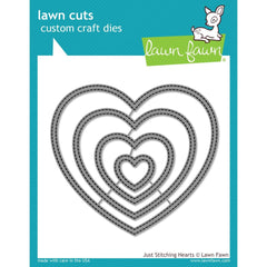 Just Stitching Hearts Lawn Cuts Metal Dies-Lawn Fawn