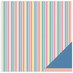 Striped Straws 12x12 Double Sided Paper-American Crafts Dear Lizzy Polka Dot Party