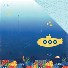 Submarine Scene 12x12 Paper-Echo Park Under The Sea