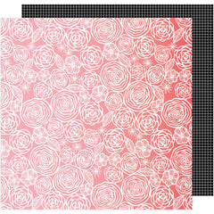 Think Pink 12x12 Paper-Amy Tangerine On A Whim