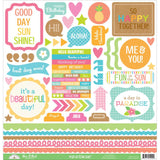 Fun In The Sun This & That 12x12 Stickers-Doodlebug