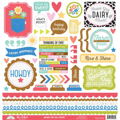 Down On The Farm This & That Cardstock Stickers-Doodlebug