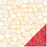 Tinsel Time Talk 12x12 Double Sided Paper-Studio Calico Magical