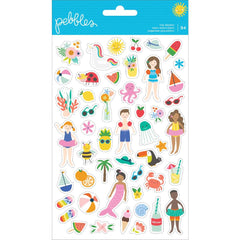 Tiny Clear Stickers-Pebbles Oh Summertime