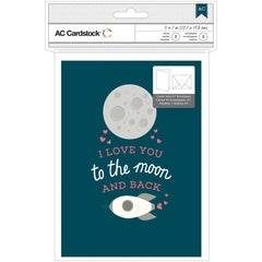 I Love You To The Moon and Back Cards-American Crafts