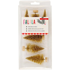 Gold Wire Brush Trees FaLaLa-Crate Paper
