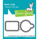 Turn Me On Lawn Cuts Metal Dies-Lawn Fawn